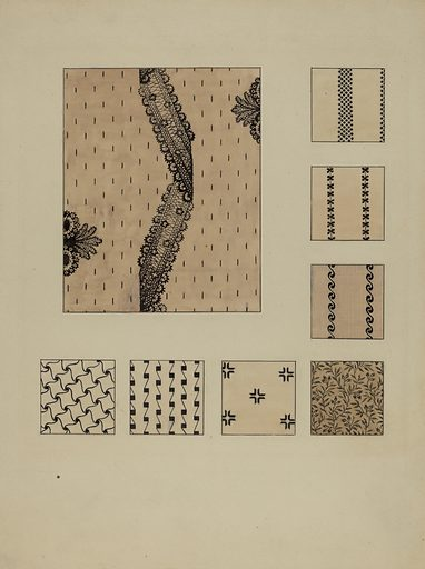 Printed Cottons. Date: c 1936. Accession number: 1943.8.881.