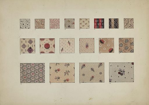 Quilt Patches. Date: c 1937. Accession number: 1943.8.907.