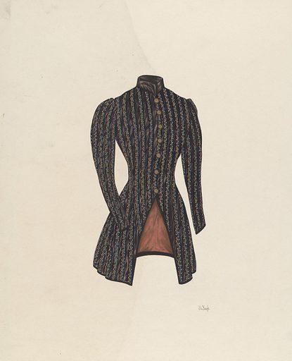Black Satin Jacket. Date: c 1938. Accession number: 1943.8.9532.