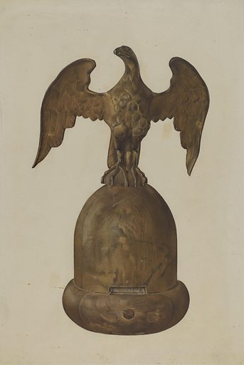Flag Pole Finial. Date: 1935/1942. Accession number: 1943.8.9800.