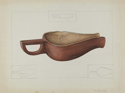Wooden Meal Scoop. Date: c 1937. Accession number: 1943.8.13429.