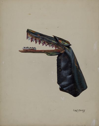 Hand Puppet – Snapdragon. Date: c 1936. Accession number: 1943.8.15694.