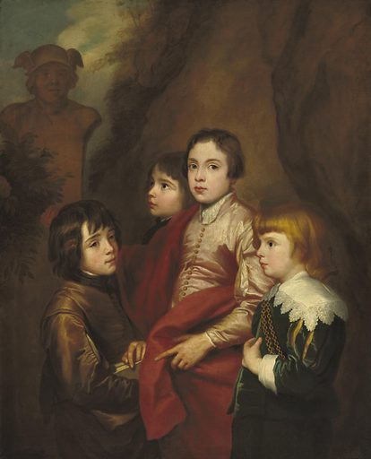 Group of Four Boys. Date: probably mid 17th century. Accession number: 1960.6.21.