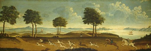 Hunting Scene with a Harbor. Date: 18th century. Accession number: 1970.17.103.