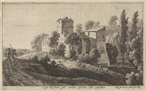 Farm beyond the Porta del Popolo. Accession number: 1973.32.56.