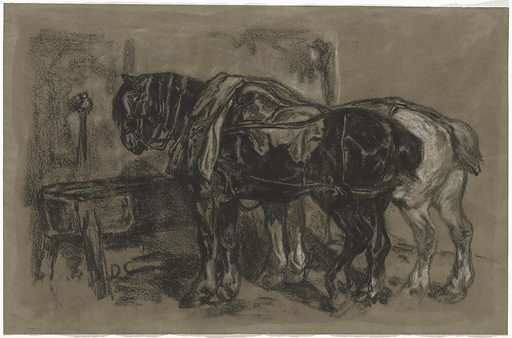 Two Draft Horses. Date: 1830. Accession number: 2009.70.105.
