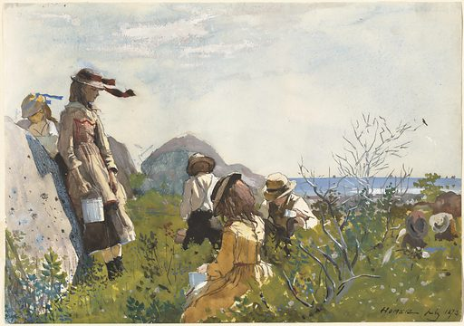 Berry Pickers. Date: 1873. Accession number: 2014.18.16.