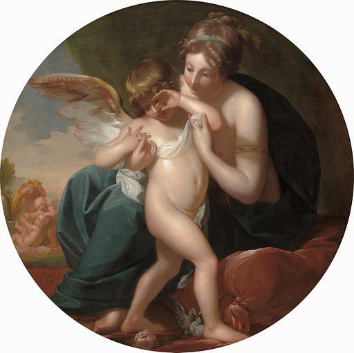 Cupid, Stung by a Bee, Is Cherished by his Mother. Date: 1774. Accession number: 2014.136.93.