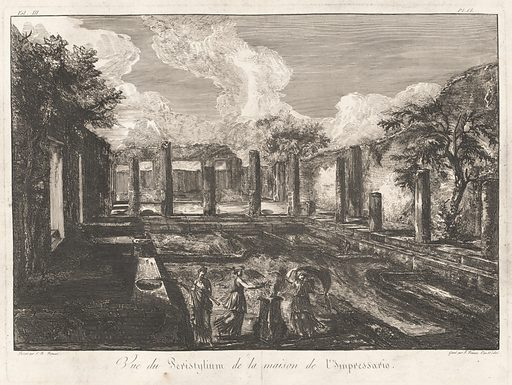 Vue du Peristylium de la maison de l'Impressario. Date: 1805. Accession number: 2015.160.8.
