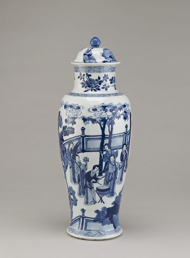 Baluster vase, one of three in a five-piece garniture (F1980.190 – 194). Date: 1720s. Record ID: fsg_F1980.192a-c.