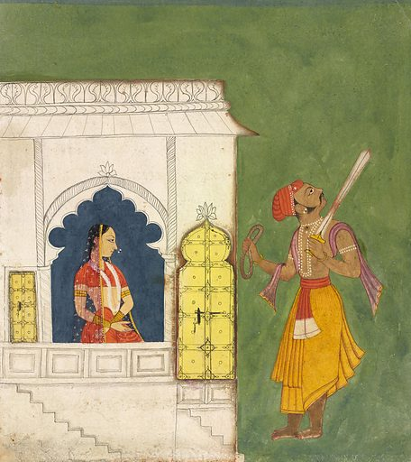 Woman gazing at warrior. Date: 1680s. Record ID: fsg_S2018.1.28.