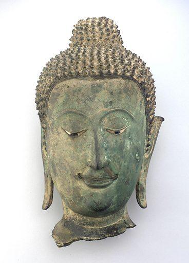 Head of a Buddha. Date: 1700s. Record ID: fsg_F1909.49.
