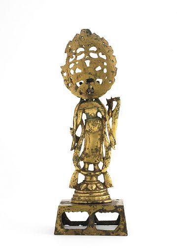 Standing Bodhisattva Guanyin (Avalokiteshvara). Date: 700s. Record ID: fsg_F1913.44a-c.