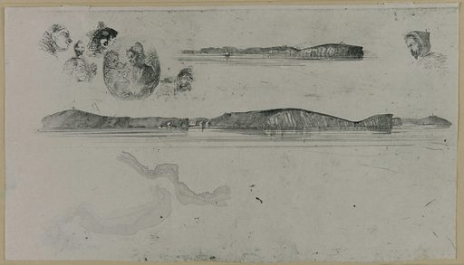Sketches on the Coast Survey Plate. Date: 1850s. Record ID: fsg_F1898.411.