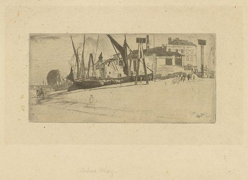 Chelsea Wharf. Date: 1860s. Record ID: fsg_F1905.163.