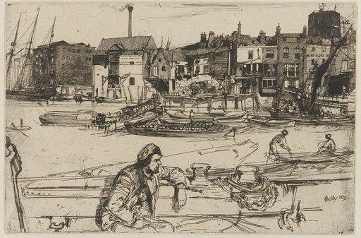 Black Lion Wharf. Date: 1850s. Record ID: fsg_F1906.105.