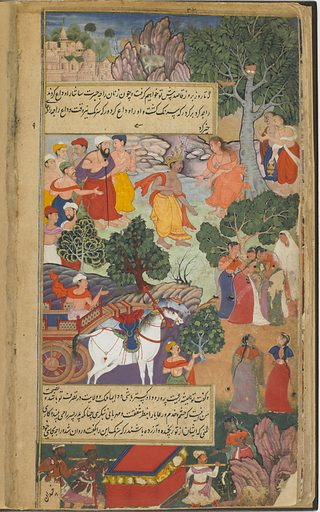 The Ramayana (Tales of Rama; The Freer Ramayana), Volume 1. Date: 1590s. Record ID: fsg_F1907.271.1-172.