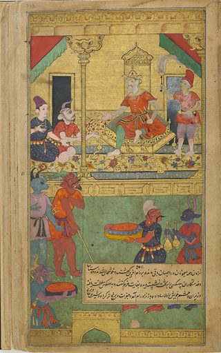 The Ramayana (Tales of Rama; The Freer Ramayana), Volume 2. Date: 1590s. Record ID: fsg_F1907.271.173-346.
