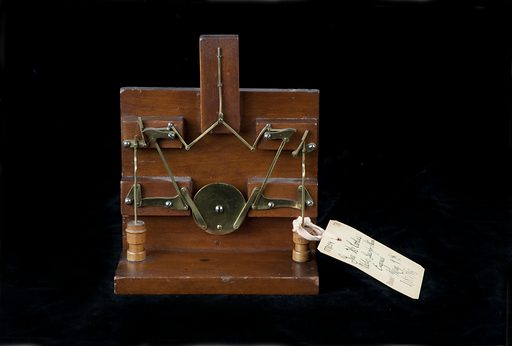 This model was submitted to the US Patent Office with the application for the two patents issued to George H Corliss, May 9, 1876, nos. 177059 and 177099. Date: 1870s. Record ID: nmah_1063742.