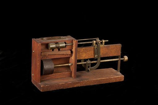 This model was filed to the US Patent Office with the application for the patent issued to GE Dow, of San Francisco, California, November 4, 1879, no. 221220. Date: 1870s. Record ID: nmah_1131948.