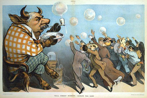 Wall Street bubbles