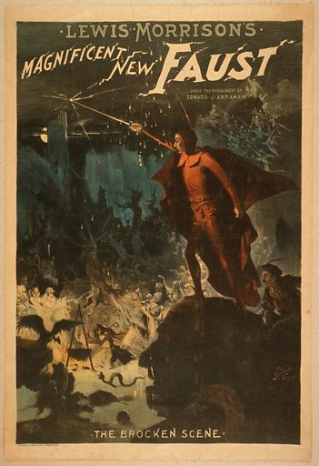 Lewis Morrison's magnificent new Faust. Date c1889.