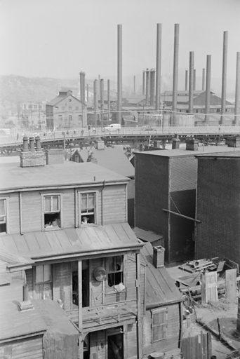 Slums, Pittsburgh, Pennsylvania. Date 1938 July.