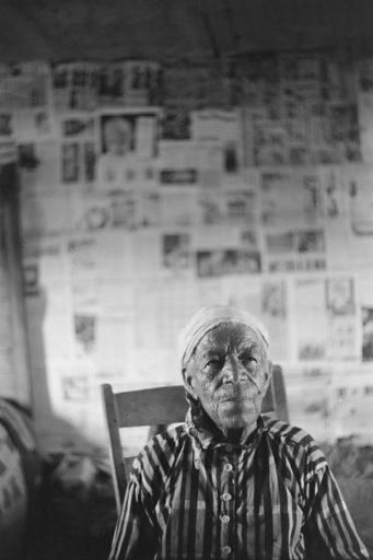 Old ex-slave on a farm near Greensboro, Alabama. Date 1941 May.