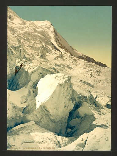 Ascension du Mont Blanc, Chamonix Valley, France. Date between ca. 1890 and ca. 1900.