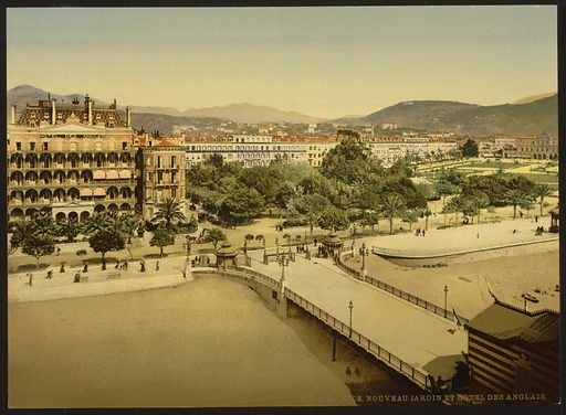 Hotel des Anglais, Nice, Riviera. Date between ca. 1890 and ca. 1900.