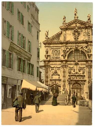 Church of San Moisè, Venice, Italy. Date between ca. 1890 and ca. 1900.