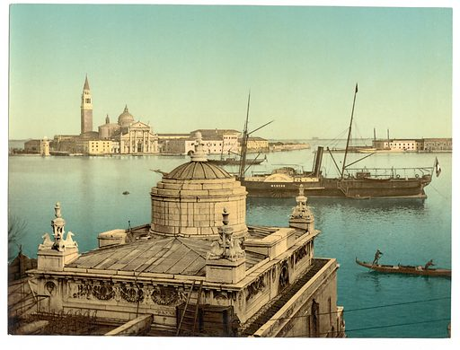 Harbor, Venice, Italy. Date between ca. 1890 and ca. 1900.