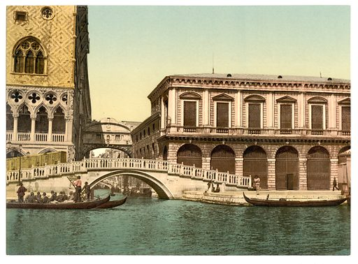 The Bridge of Sighs, Venice, Italy. Date between ca. 1890 and ca. 1900.
