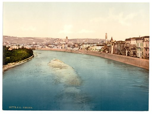 General view, Verona, Italy. Date between ca. 1890 and ca. 1900.