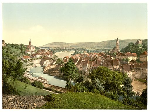 Gross and Klein Laufenburg, Aargau, Switzerland. Date between ca. 1890 and ca. 1900.