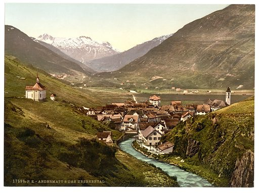 The Ursern Valley, Andermatt, Switzerland. Date between ca. 1890 and ca. 1900.