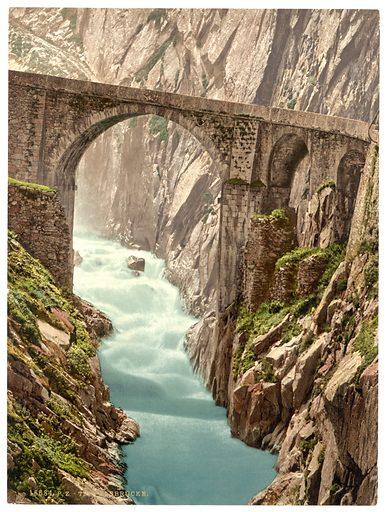 Devil's Bridge, Andermatt, Switzerland. Date between ca. 1890 and ca. 1900.