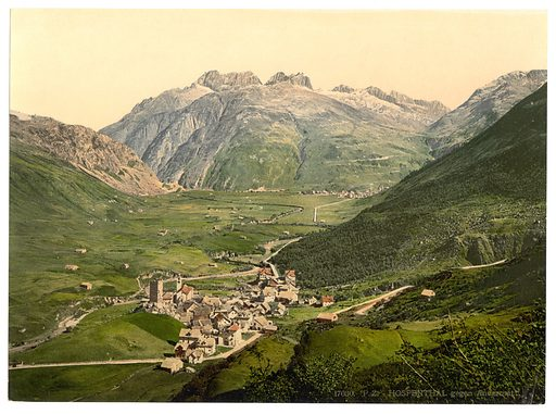 Hospenthal, Andermatt, Switzerland. Date between ca. 1890 and ca. 1900.