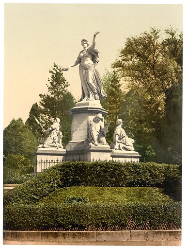 The Monument St. Jacob, Basle, Switzerland. Date between ca. 1890 and ca. 1900.