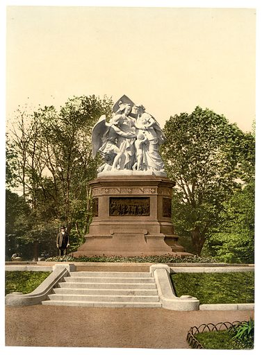 The Monument of Strasburg, Basle, Switzerland. Date between ca. 1890 and ca. 1900.