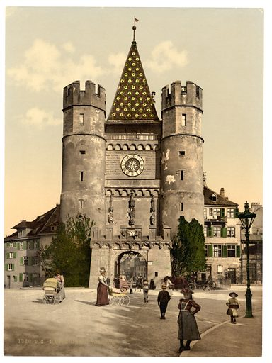 The Spalenthor, Basle, Switzerland. Date between ca. 1890 and ca. 1900.