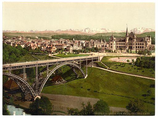 From Hotel Bellevue, Berne, Switzerland. Date between ca. 1890 and ca. 1900.