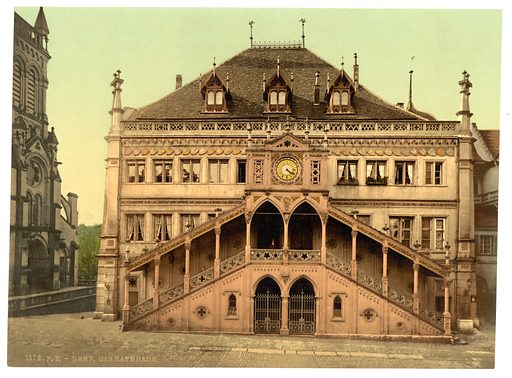 The town hall, Berne, Switzerland. Date between ca. 1890 and ca. 1900.