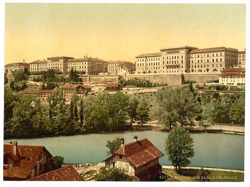 Town hall, Berne, Switzerland. Date between ca. 1890 and ca. 1900.