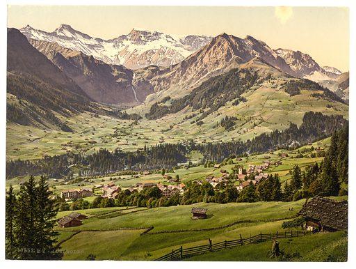 Adelboden, general view, Bernese Oberland, Switzerland. Date between ca. 1890 and ca. 1900.