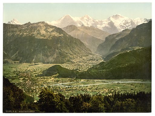 Beatenburg (i.e., Beatenberg), from Amisbuhl, Bernese Oberland, Switzerland. Date between ca. 1890 and ca. 1900.