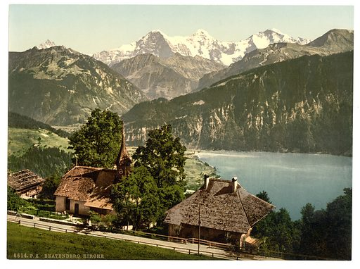Beatenburg (i.e., Beatenberg), the church, Bernese Oberland, Switzerland. Date between ca. 1890 and ca. 1900.