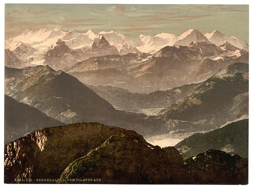 Bernese Alps, from Pilatus, Bernese Oberland, Switzerland. Date between ca. 1890 and ca. 1900.