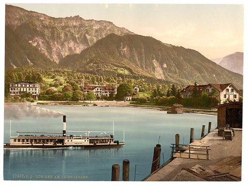 Bonigen from Brienz Lake, Bernese Oberland, Switzerland. Date between ca. 1890 and ca. 1900.