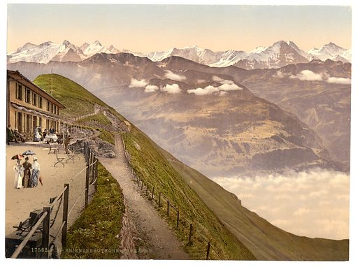 Brienzer Rothorn, terrace, Bernese Oberland, Switzerland. Date between ca. 1890 and ca. 1900.